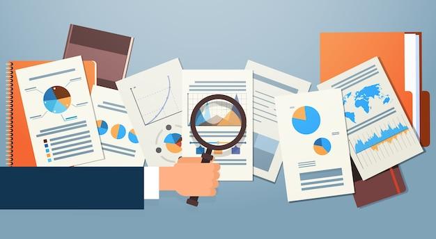 Finanzen diagramm dokumente Premium Vektoren