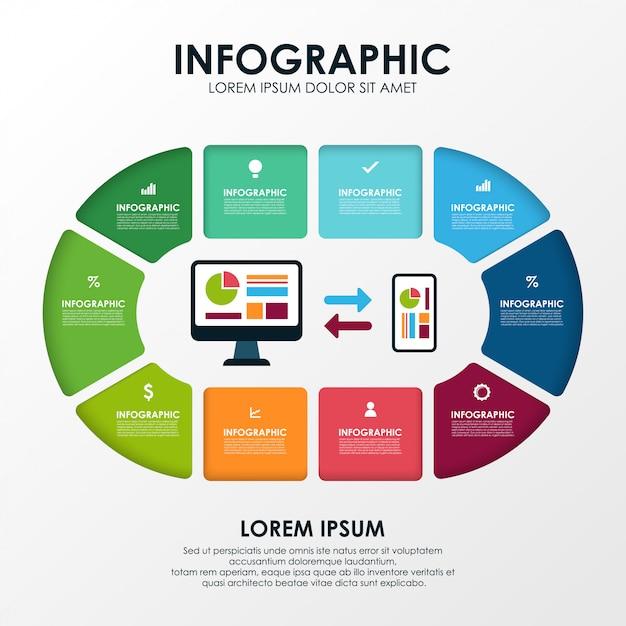 Finanzen-infografik Premium Vektoren