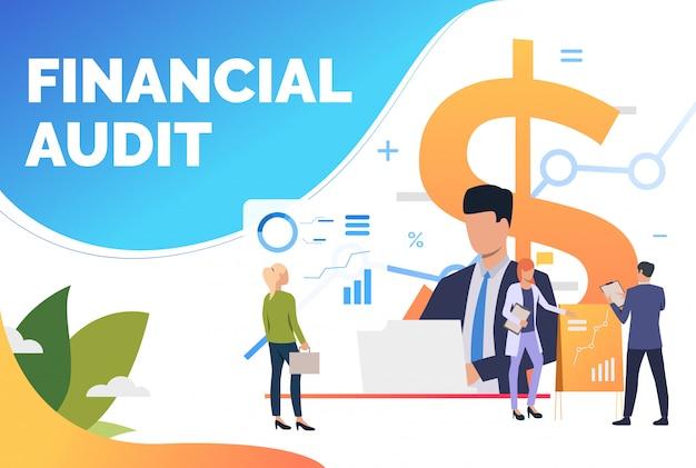 Finanzexperten analysieren diagramme Kostenlosen Vektoren