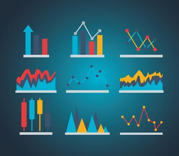 Finanzielle börse Kostenlosen Vektoren