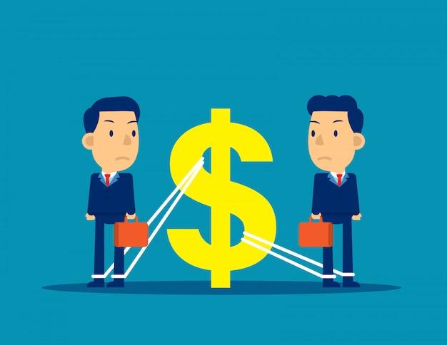 Finanzielle geschäftsangelegenheiten Premium Vektoren