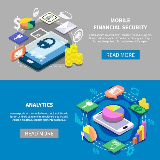 Finanzielle sicherheit banner set Kostenlosen Vektoren