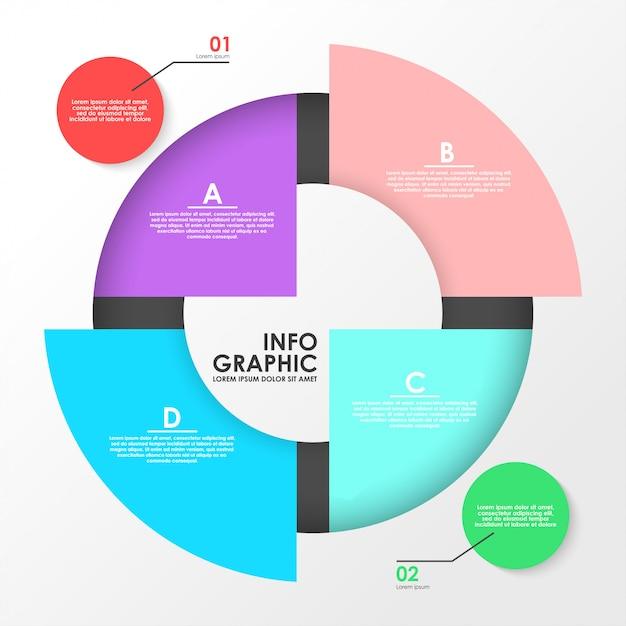 Finanzieren sie infographic illustrationsvektorschablone Premium Vektoren