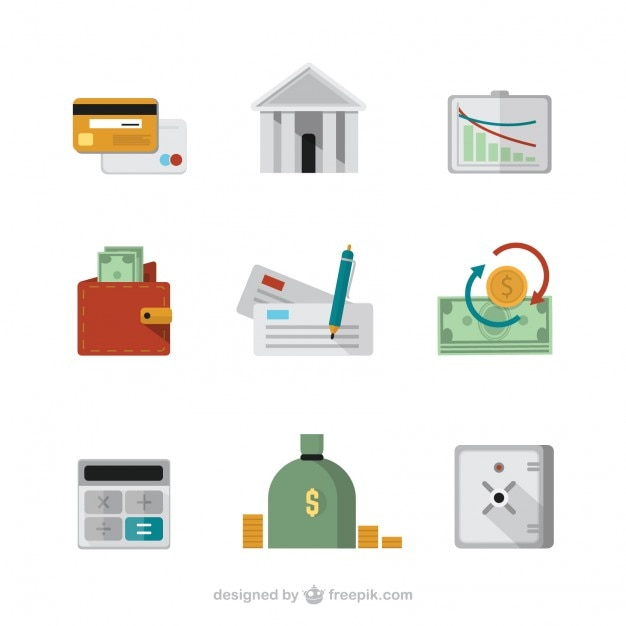 Finanzierung symbole Premium Vektoren