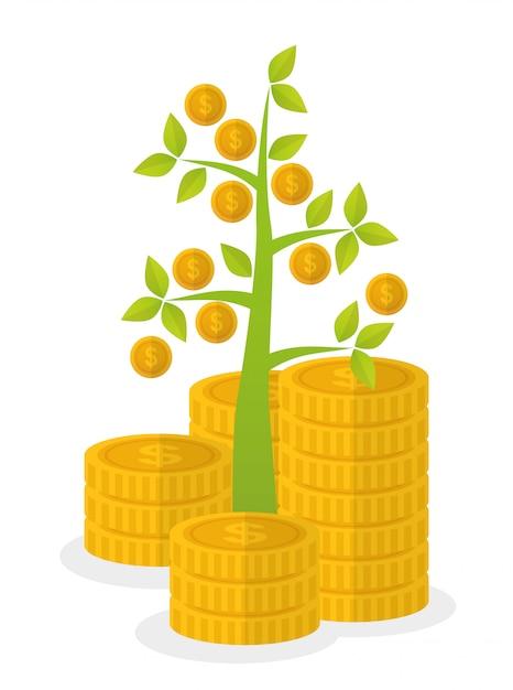 Finanzwachstum design. Premium Vektoren