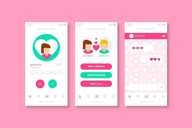 Finden sie die online-dating-app ihres partners Kostenlosen Vektoren