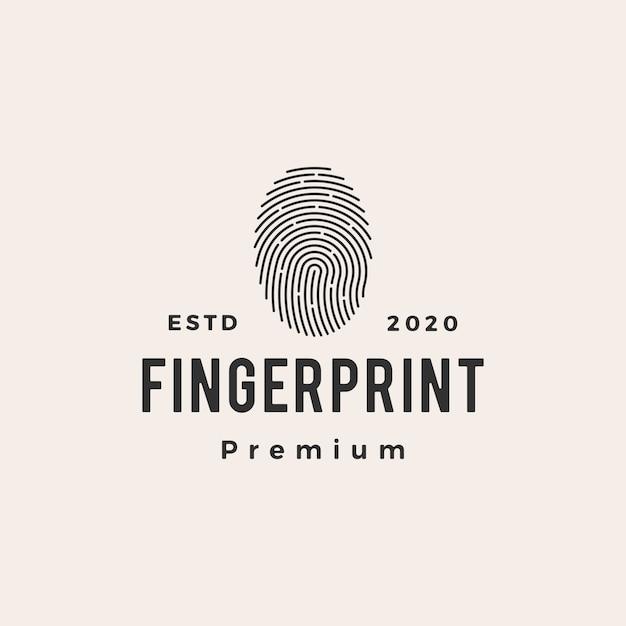 Fingerabdruck hipster vintage logo symbol illustration Premium Vektoren
