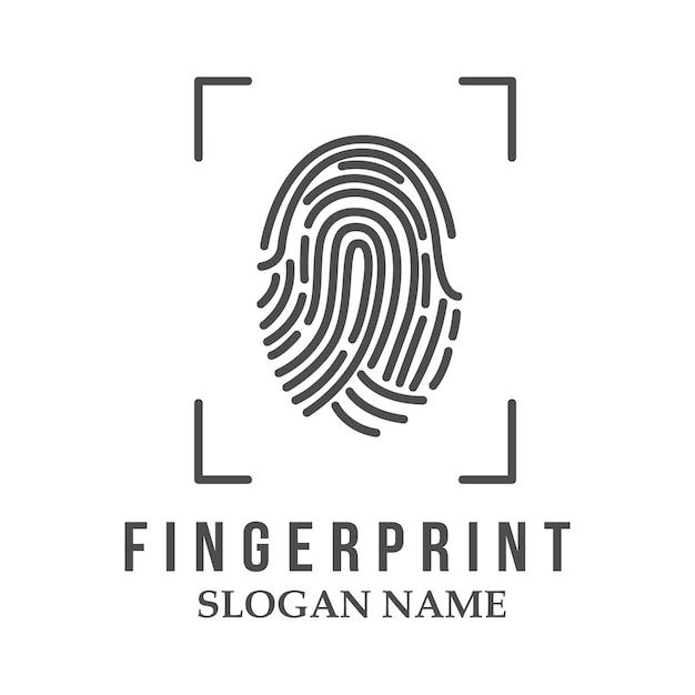 Fingerabdruck-logo-illustration-design-symbol-logo Premium Vektoren