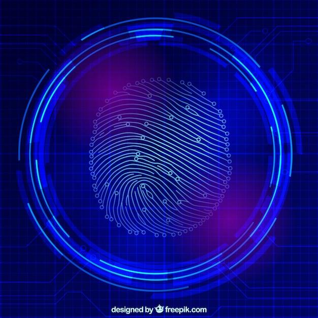 Fingerabdruck-scan Kostenlosen Vektoren