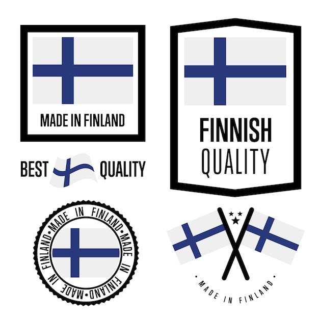 Finnland gütesiegel festgelegt Premium Vektoren