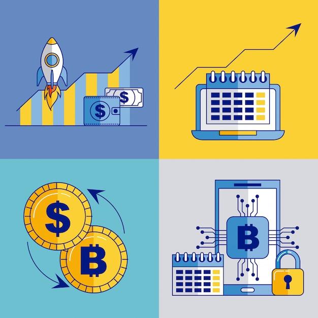 Fintech geschäftsbezogen Kostenlosen Vektoren