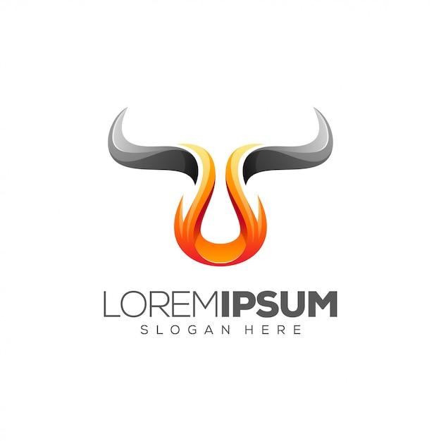 Fire bull-logo Premium Vektoren