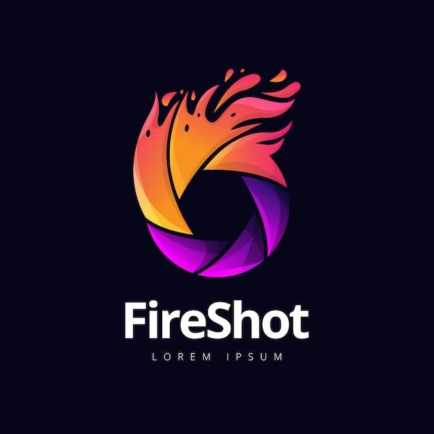 Fire shutter fotografie-logo Premium Vektoren