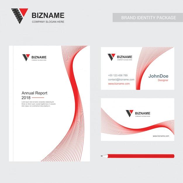 Firmenbroschüre mit kreativem designvektor Kostenlosen Vektoren