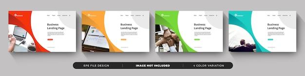 Firmenkunden landing page template Premium Vektoren