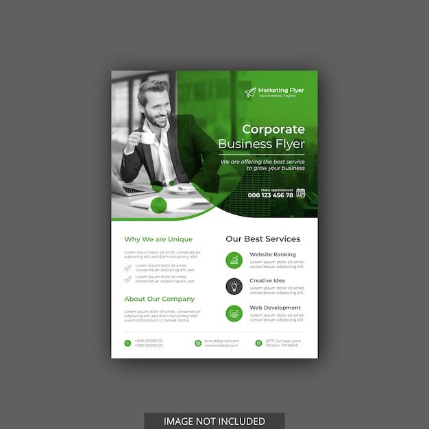 Firmenkundengeschäft flyer vorlage Premium Vektoren