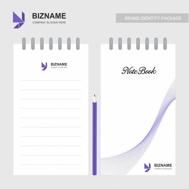 Firmenlogo notizblock mit logo und stilvollem design Kostenlosen Vektoren