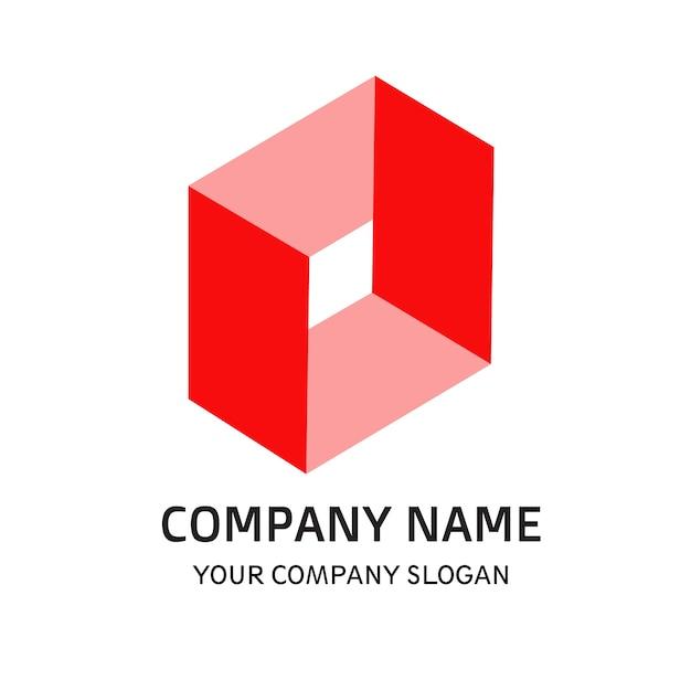 Firmenlogo rote farbe Premium Vektoren