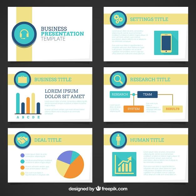 firmenprsentation vorlage mit grafiken kostenlose vektoren - Firmenprasentation Muster