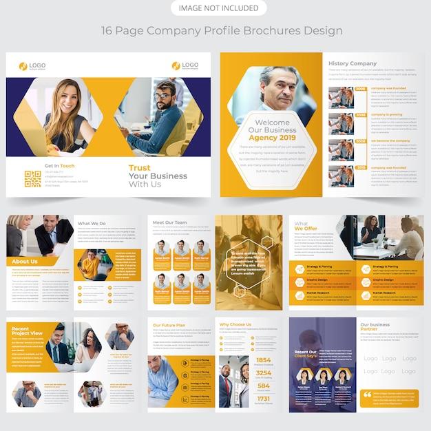 Firmenprofil broschüre design Premium Vektoren