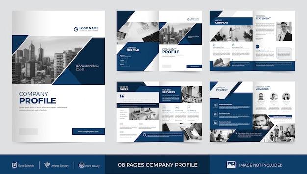 Firmenprofil broschüren vorlage Premium Vektoren