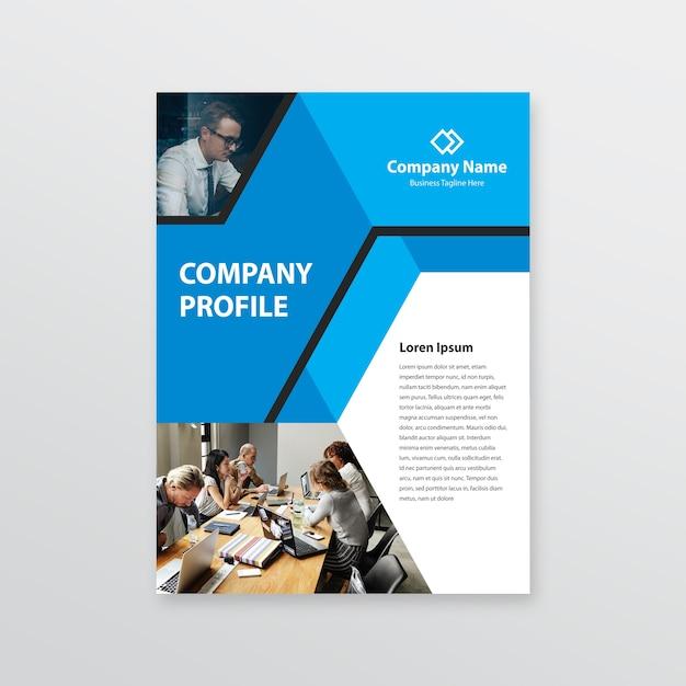 Firmenprofil Vorlage Premium Vektor