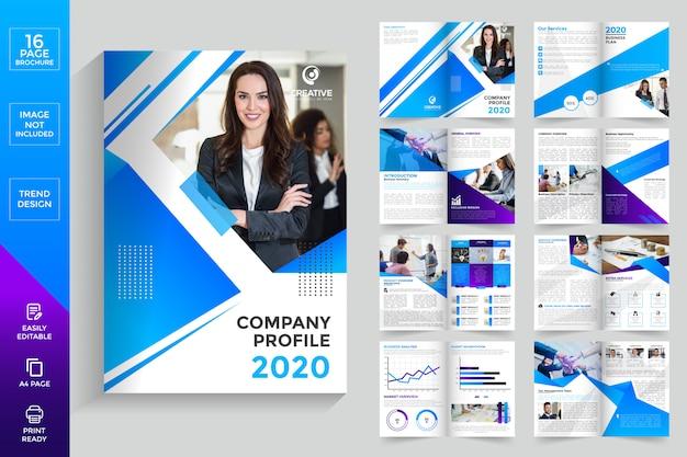 Firmenprofilseiten broschüre Premium Vektoren