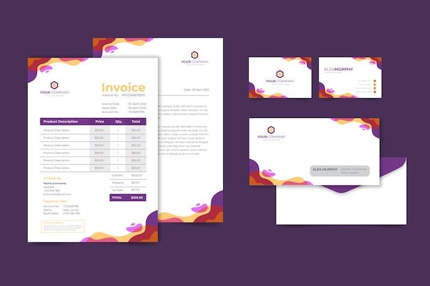 Firmenrechnung Und Visitenkarte Kostenlose Vektor