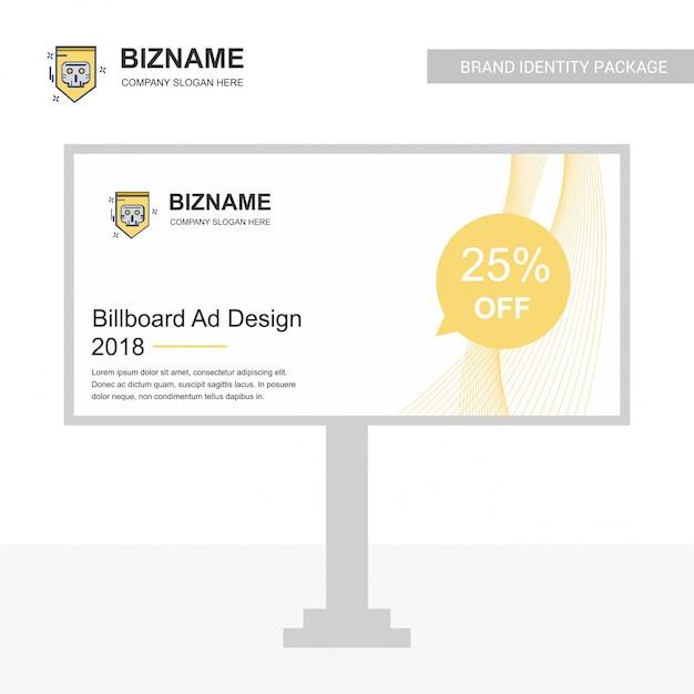 Firmenschein-brettdesign mit kreativem designvektor Premium Vektoren