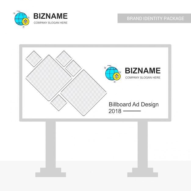 Firmenschein-brettdesign mit kreativem designvektor Kostenlosen Vektoren