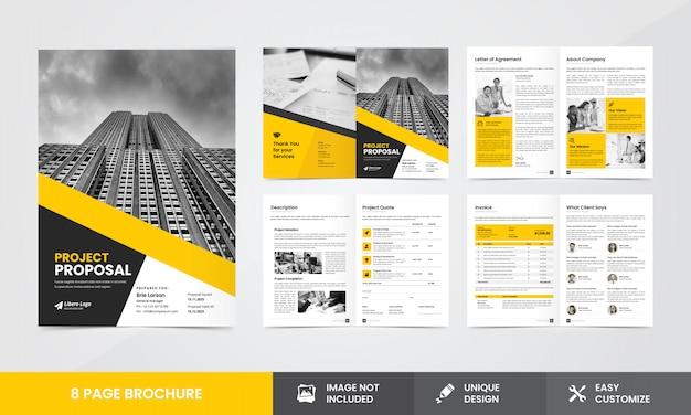 Firmenvorschlag broschüren vorlage Premium Vektoren