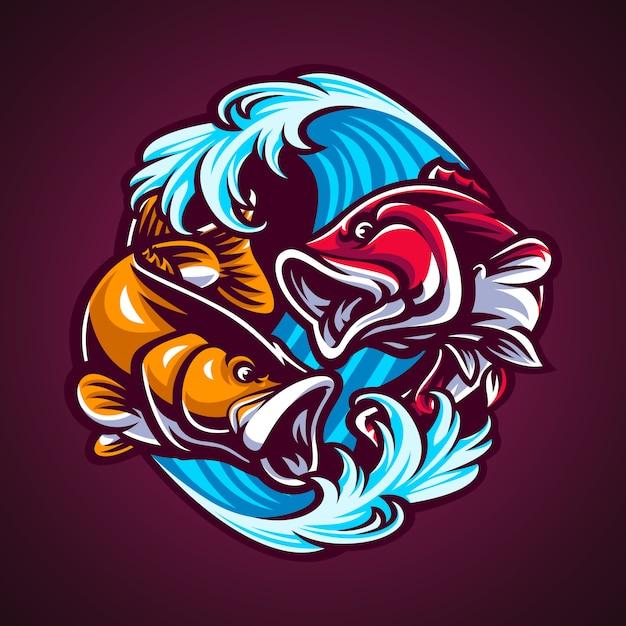 Fisch handgezeichnete abbildung Premium Vektoren