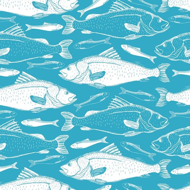 Fisch nahtlose hintergrund Kostenlosen Vektoren