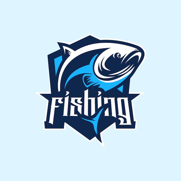 Fischenlogo erstklassiger vektor Premium Vektoren