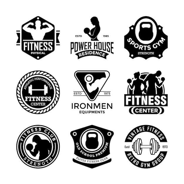 Fitness-abzeichen Premium Vektoren