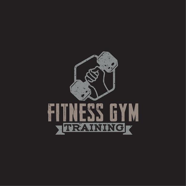 Fitness & gym logo abzeichen Premium Vektoren