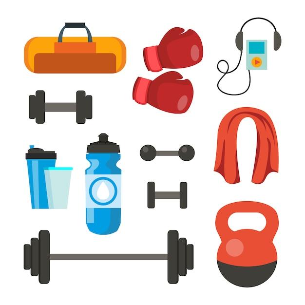 Fitness-ikonen Premium Vektoren
