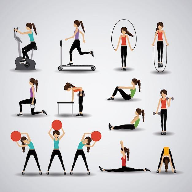Fitness illustration. Premium Vektoren