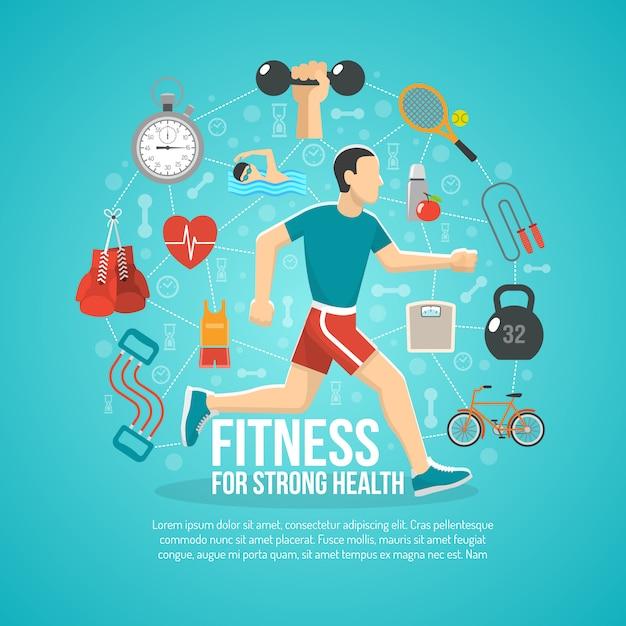 Fitness-konzept-illustration Kostenlosen Vektoren