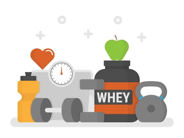 Fitness-konzept. Kostenlosen Vektoren