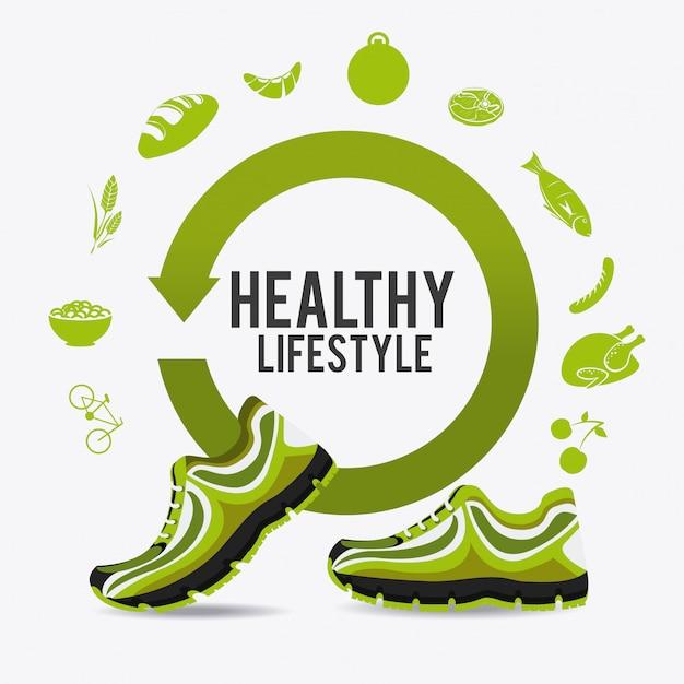 Fitness-lifestyle-design. Premium Vektoren