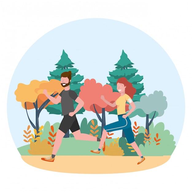 Fitness sport zug cartoon Premium Vektoren