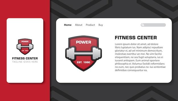 Fitnesscenter für mobile app und landingpage-vorlage Premium Vektoren