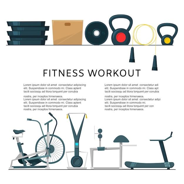 Fitnesstraining im clubzentrum Premium Vektoren