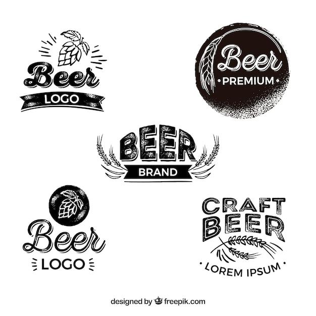 Flachbier-logo-sammlung Kostenlosen Vektoren