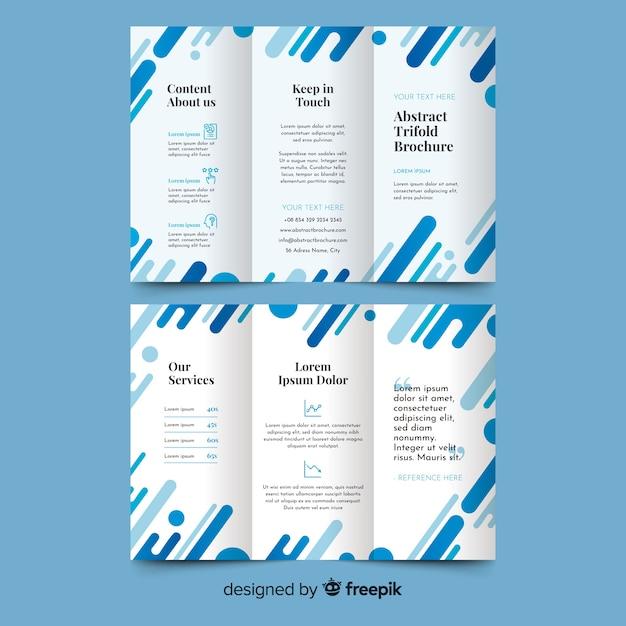 Flache abstrakte dreifachgefaltete broschüre Kostenlosen Vektoren