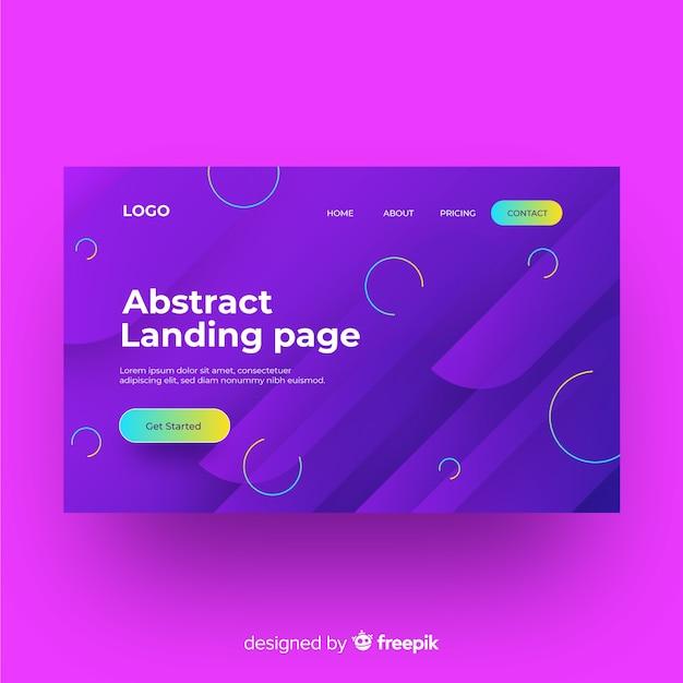 Flache abstrakte landingpage-vorlage Kostenlosen Vektoren