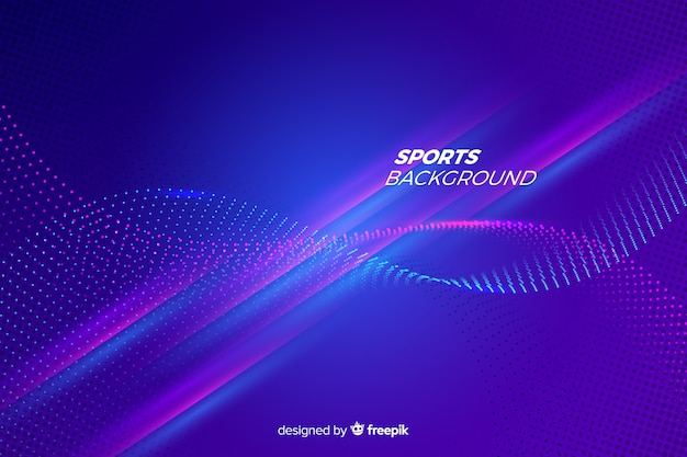 Flache art des abstrakten sporthintergrundes Kostenlosen Vektoren