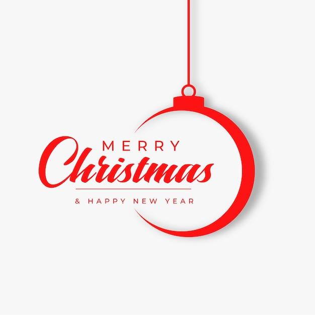 Flache art frohe weihnachtsfestkarte Kostenlosen Vektoren