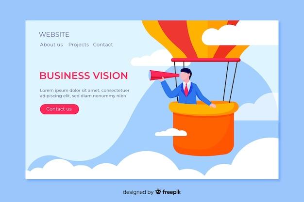 Flache business-landing-page-vorlage Premium Vektoren